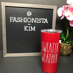 NEW Rae Dunn sweater weather tumbler cup